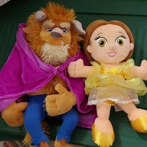 Disney Beauty and the Beast Plush Set